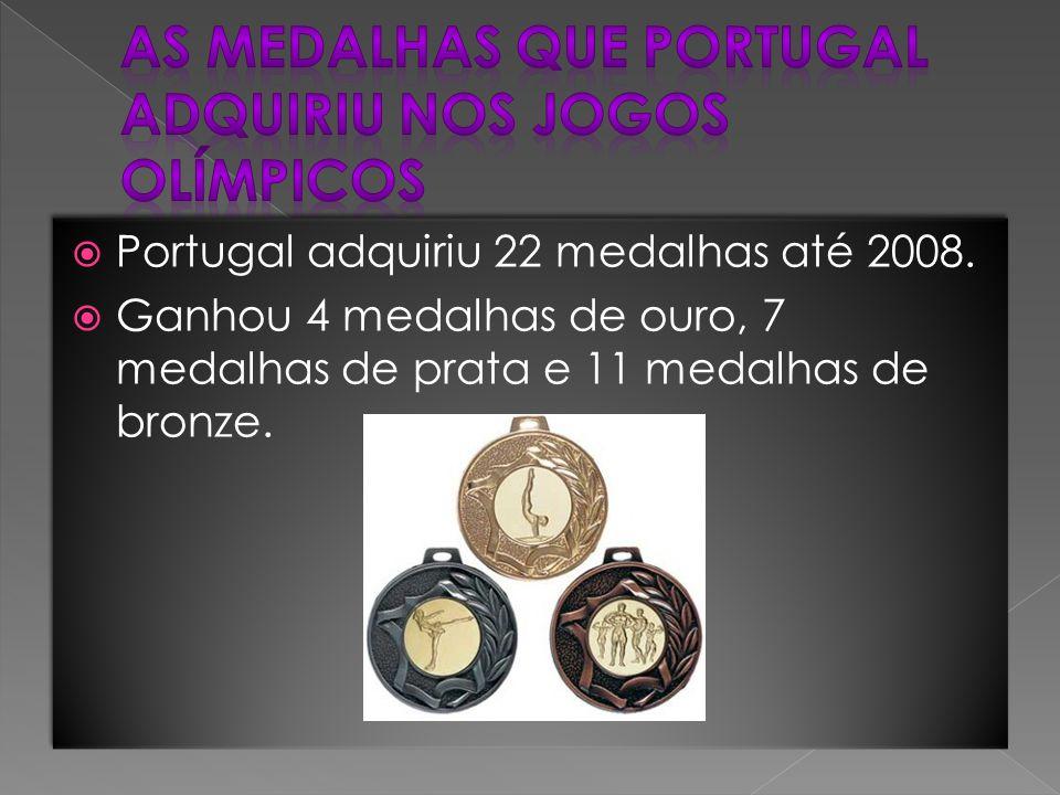  Portugal adquiriu 22 medalhas até 2008.  Ganhou 4 medalhas de ouro, 7 medalhas de prata e 11 medalhas de bronze.  Portugal adquiriu 22 medalhas at