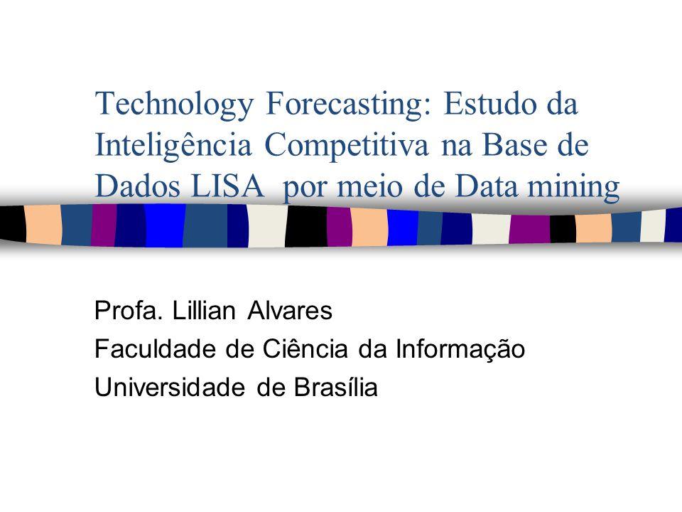 OBJETIVO GERAL Realizar prospecção de dados, por meio de Data Mining, sobre o tema inteligência competitiva na base de dados LISA a fim de conhecer sua evolução.