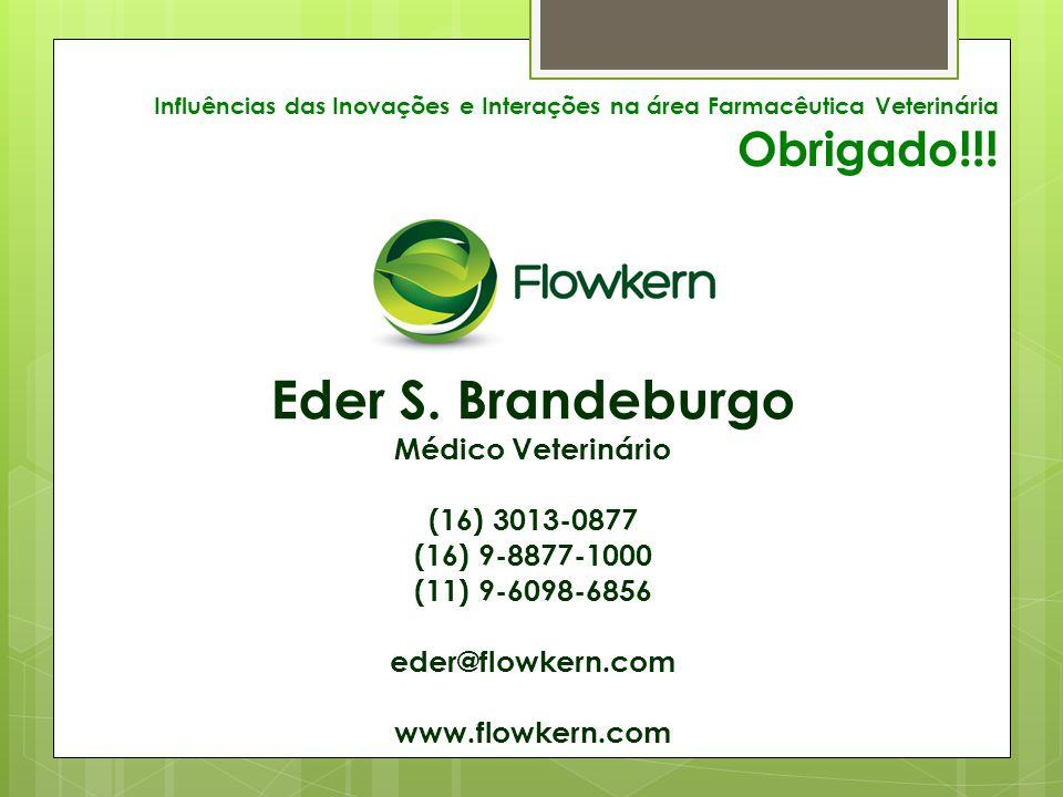 Influências das Inovações e Interações na área Farmacêutica Veterinária Obrigado!!.