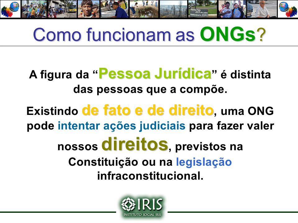 """Como funcionam as ONGs? Pessoa Jurídica A figura da """" Pessoa Jurídica """" é distinta das pessoas que a compõe. de fato e de direito direitos Existindo d"""