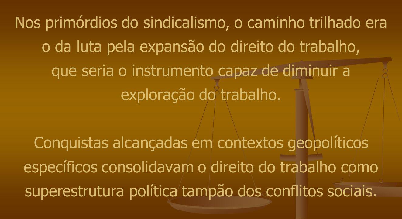 Na década de 1920, pela necessidade de combater a União Soviética – inimiga universal do capitalismo –, iniciativas pontuais no sentido de conciliar dissídios entre empregados e empregadores são tomadas, como a criação dos Tribunais Rurais , em São Paulo, em 1922, e do Conselho Nacional do Trabalho , em 1923.