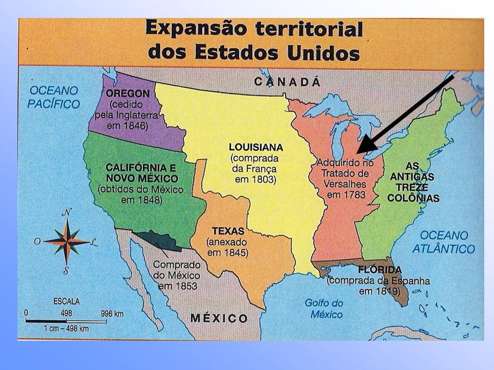 Os Estados Unidos queriam expandir seu território também para o Norte e ocupar áreas de colonização inglesa no Canadá.