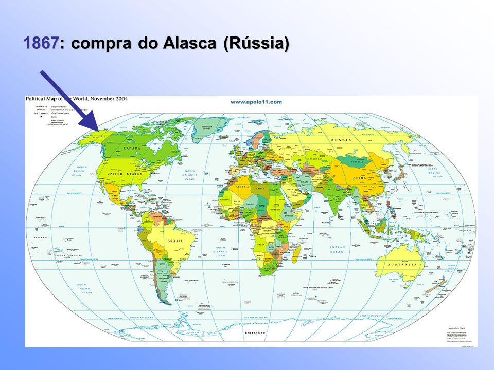 1867: compra do Alasca (Rússia)
