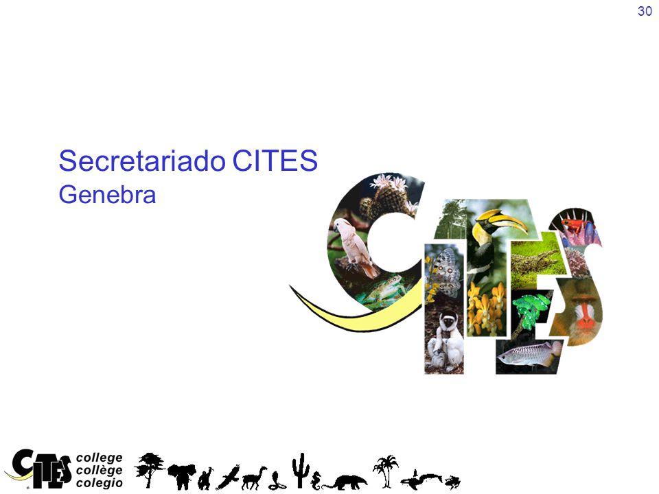 30 Secretariado CITES Genebra