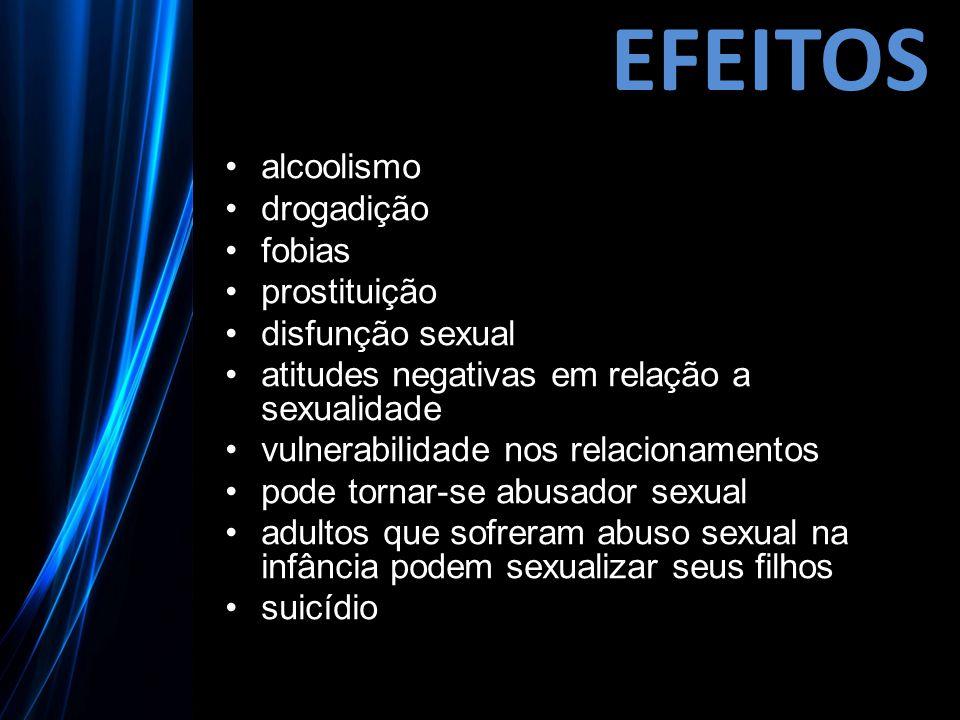EFEITOS alcoolismo drogadição fobias prostituição disfunção sexual atitudes negativas em relação a sexualidade vulnerabilidade nos relacionamentos pod