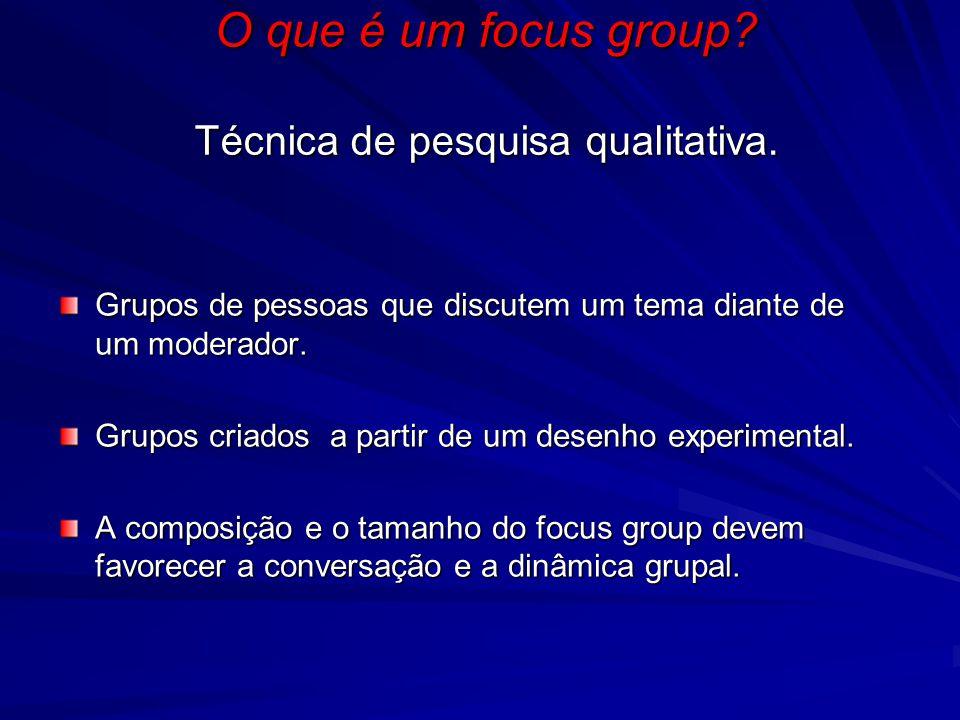 Grupos de pessoas que discutem um tema diante de um moderador.