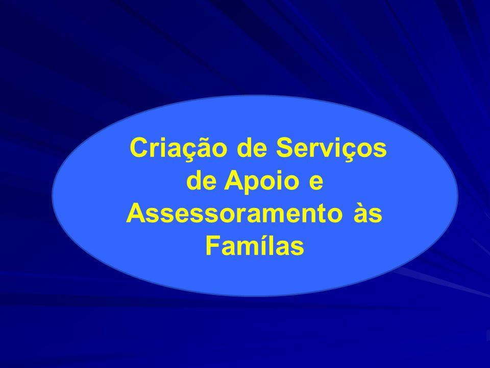 Criação de Serviços de Apoio e Assessoramento às Famílas