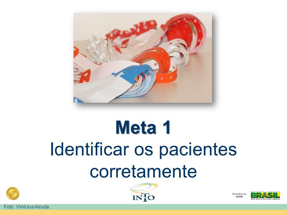 Identificação de Riscos Riscos relacionados a outras Metas Internacionais de Segurança do Paciente, podem ser sinalizados visualmente através de um código de cores nas pulseiras.