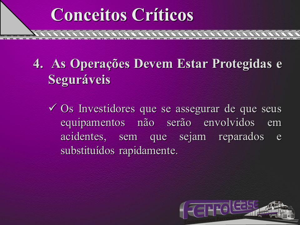 Conceitos Críticos 4. As Operações Devem Estar Protegidas e Seguráveis Os Investidores que se assegurar de que seus equipamentos não serão envolvidos