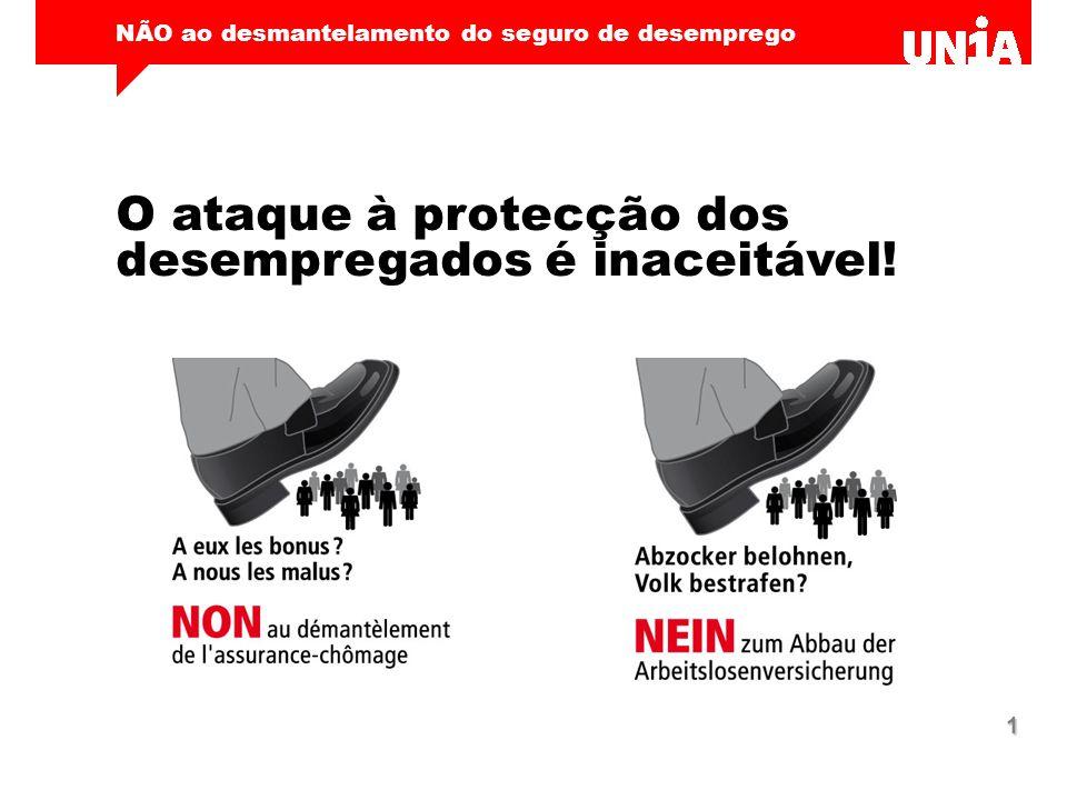 NÃO ao desmantelamento do seguro de desemprego 1 O ataque à protecção dos desempregados é inaceitável!