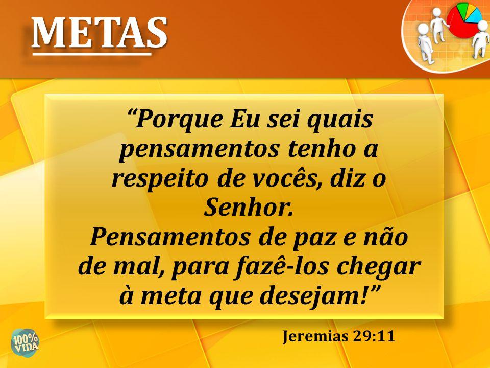 Confia no Senhor de todo o teu coração e não te estribes no teu próprio entendimento. METASMETAS Provérbios 3:5
