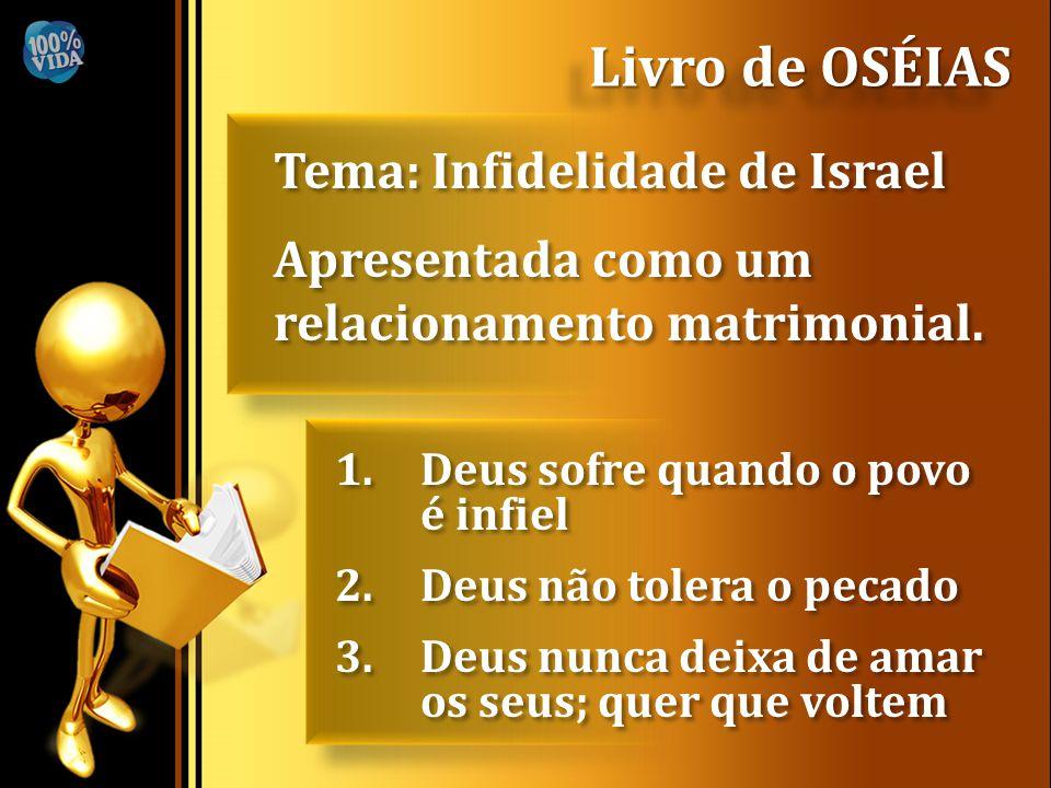 Tema: Infidelidade de Israel Apresentada como um relacionamento matrimonial. Tema: Infidelidade de Israel Apresentada como um relacionamento matrimoni