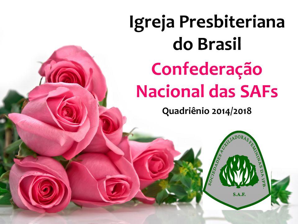 Confederação Nacional das SAFs TEMA DO QUADRIÊNIO 2014/2018 Que formosos são sobre os montes os pés do que anuncia as boas-novas (Is 52.7)