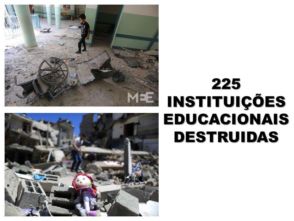 225 INSTITUIÇÕES EDUCACIONAIS DESTRUIDAS