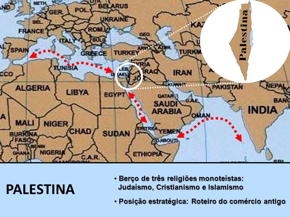 Berço de três religiões monoteístas: Berço de três religiões monoteístas: Judaísmo, Cristianismo e Islamismo Judaísmo, Cristianismo e Islamismo PALEST
