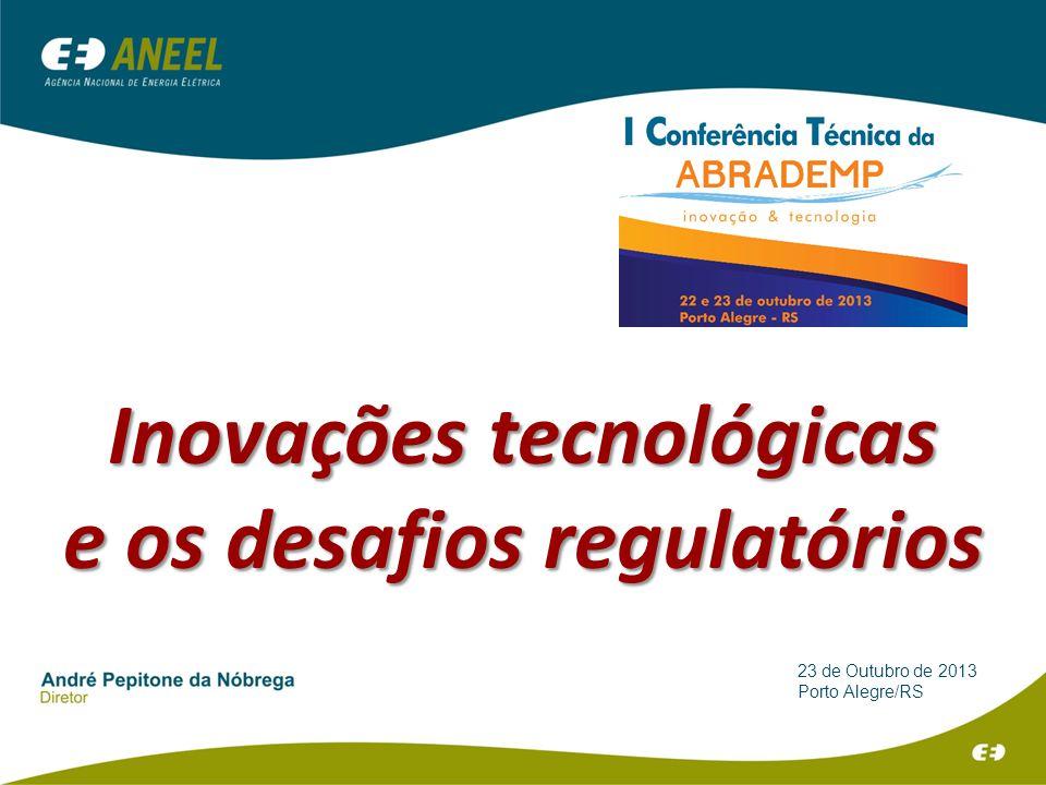 23 de Outubro de 2013 Porto Alegre/RS Inovações tecnológicas e os desafios regulatórios