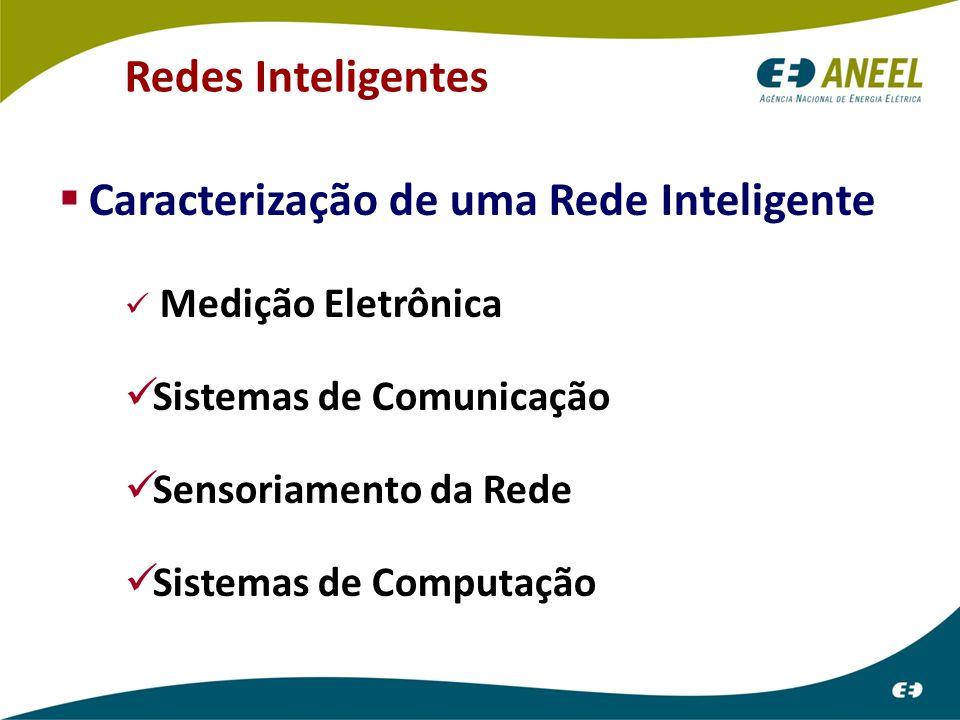  Caracterização de uma Rede Inteligente Medição Eletrônica Sistemas de Comunicação Sensoriamento da Rede Sistemas de Computação Redes Inteligentes