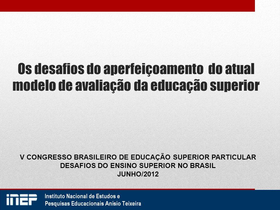 Os desafios do aperfeiçoamento do atual modelo de avaliação da educação superior V CONGRESSO BRASILEIRO DE EDUCAÇÃO SUPERIOR PARTICULAR DESAFIOS DO EN