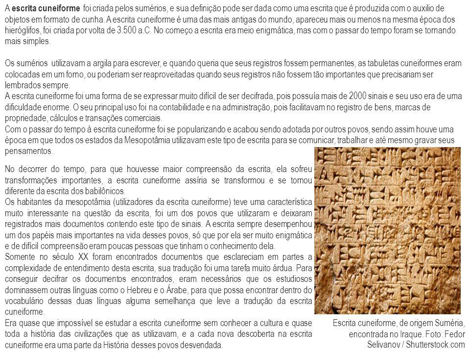 No decorrer do tempo, para que houvesse maior compreensão da escrita, ela sofreu transformações importantes, a escrita cuneiforme assíria se transform
