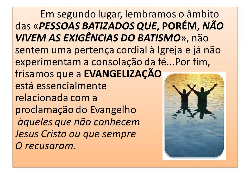 7º.Outros desafios eclesiais 102. A imensa maioria do povo de Deus é constituída por leigos.