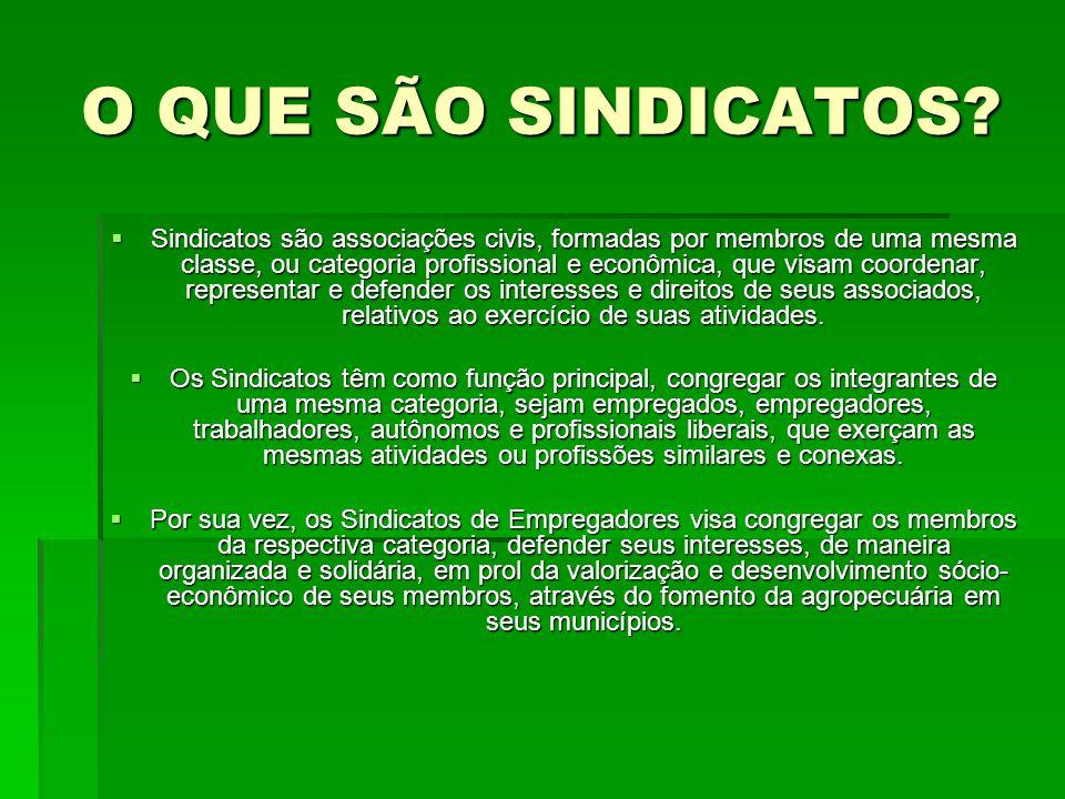 CONTRIBUIÇÃO SINDICAL RURAL O lançamento, arrecadação e administração da Contribuição Sindical Rural (CSR) é responsabilidade da Confederação Nacional da Agricultura (CNA).