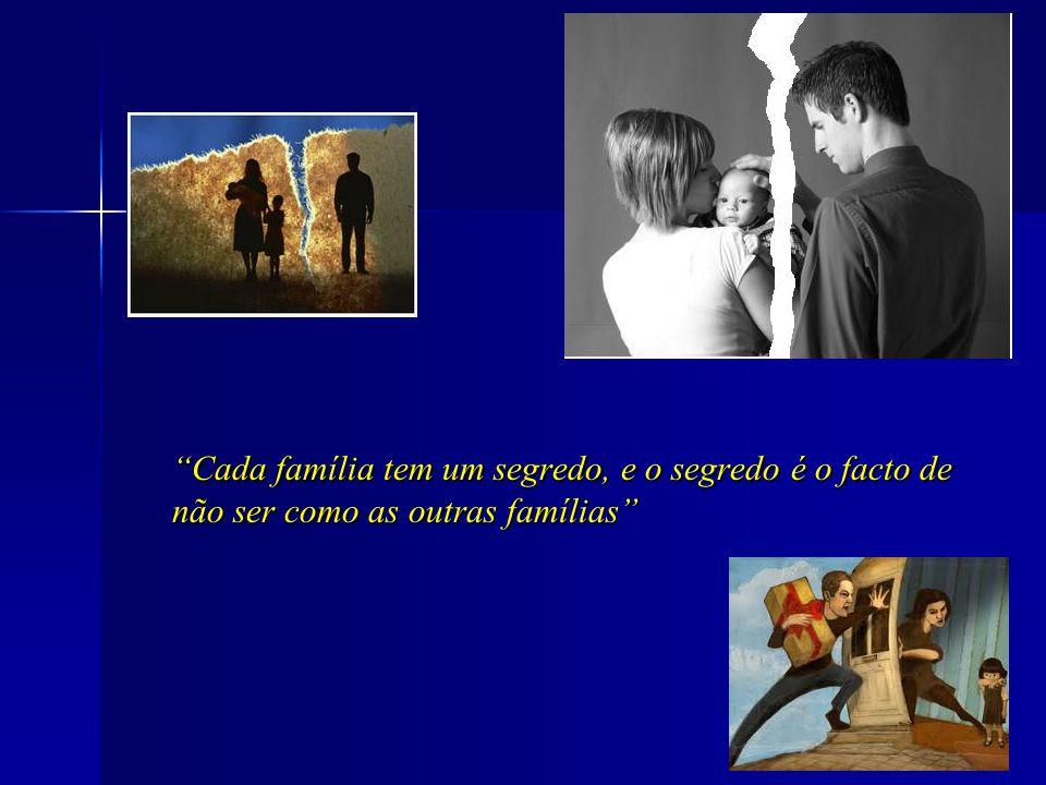 Cada família tem um segredo, e o segredo é o facto de não ser como as outras famílias
