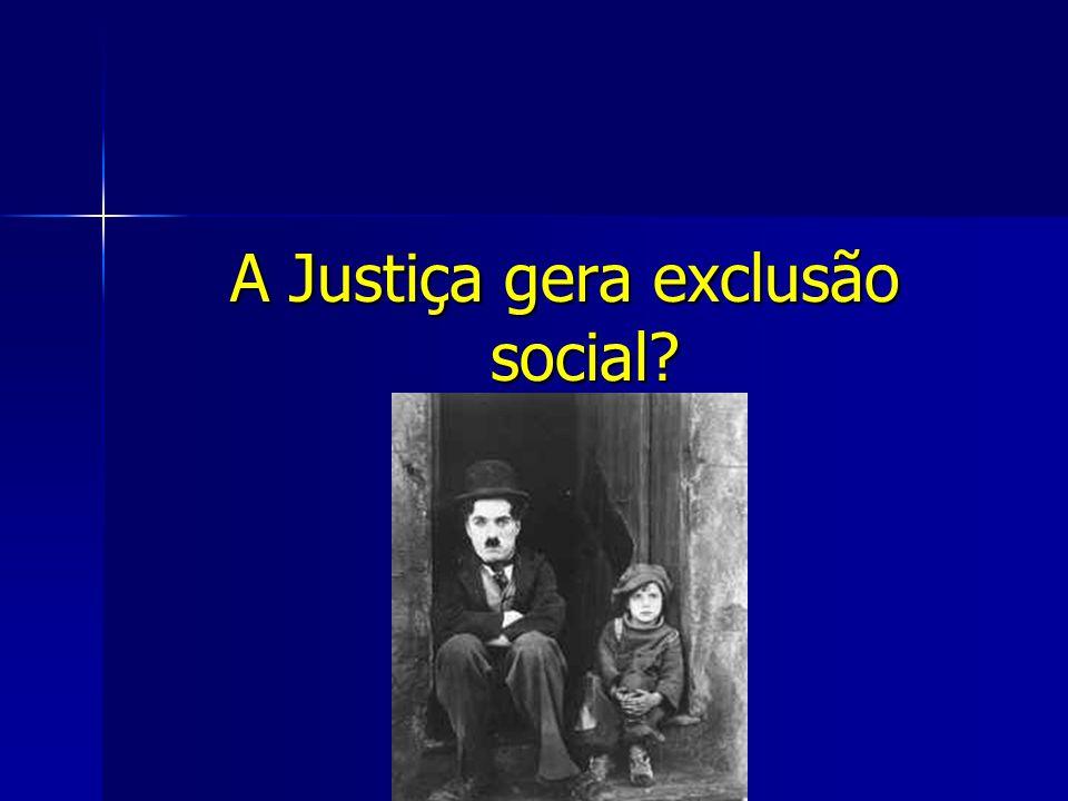 A Justiça gera exclusão social?