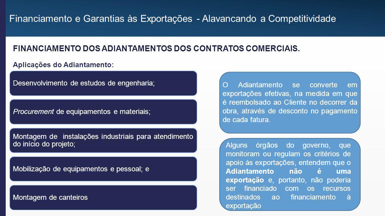 A parcela de Adiantamento, INEQUIVOCAMENTE, gera ganho de divisas, uma vez que o Importador assume o compromisso de re-pagar aquela parcela do financiamento.
