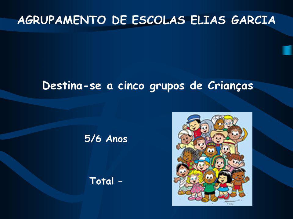 AGRUPAMENTO DE ESCOLAS ELIAS GARCIA Destina-se a cinco grupos de Crianças 5/6 Anos Total –