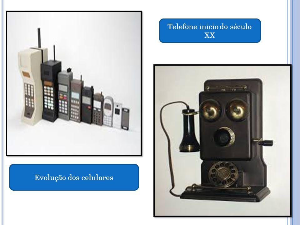 Telefone inicio do século XX Evolução dos celulares