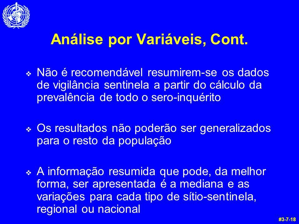 Análise por Variáveis, Cont.