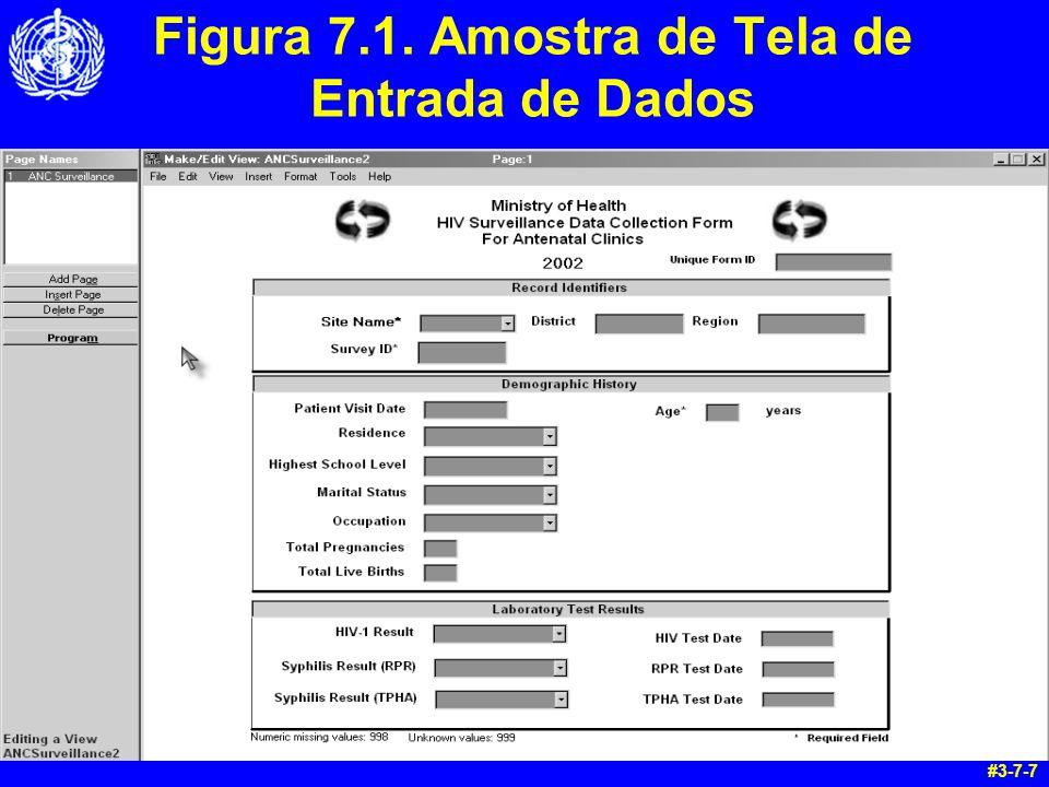 Figura 7.1. Amostra de Tela de Entrada de Dados #3-7-7