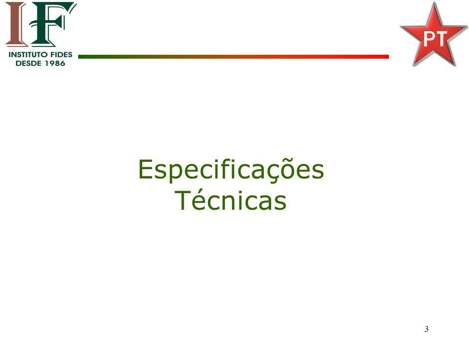 3 Especificações Técnicas