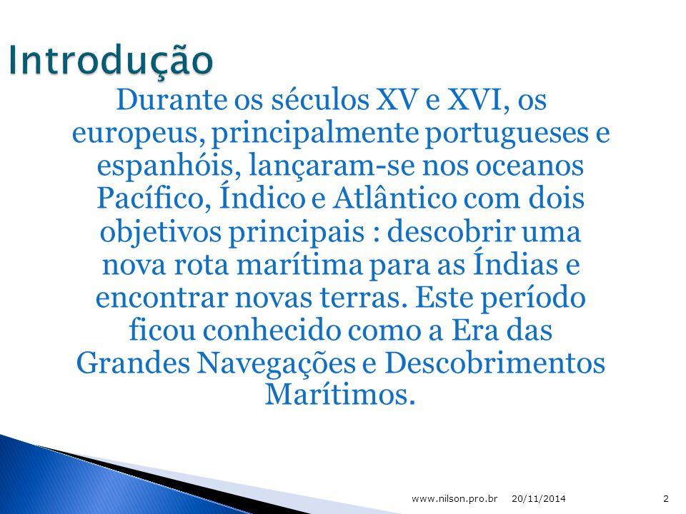 Expansão marítimo e comercial européia 20/11/20141 www.nilson.pro.br