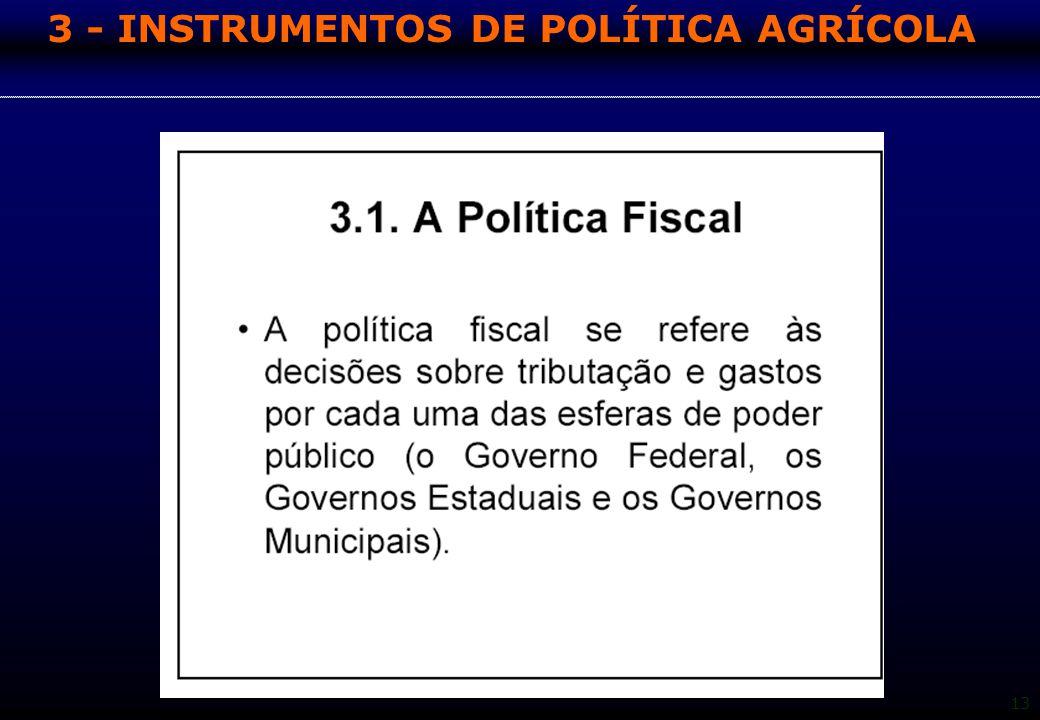 13 3 - INSTRUMENTOS DE POLÍTICA AGRÍCOLA