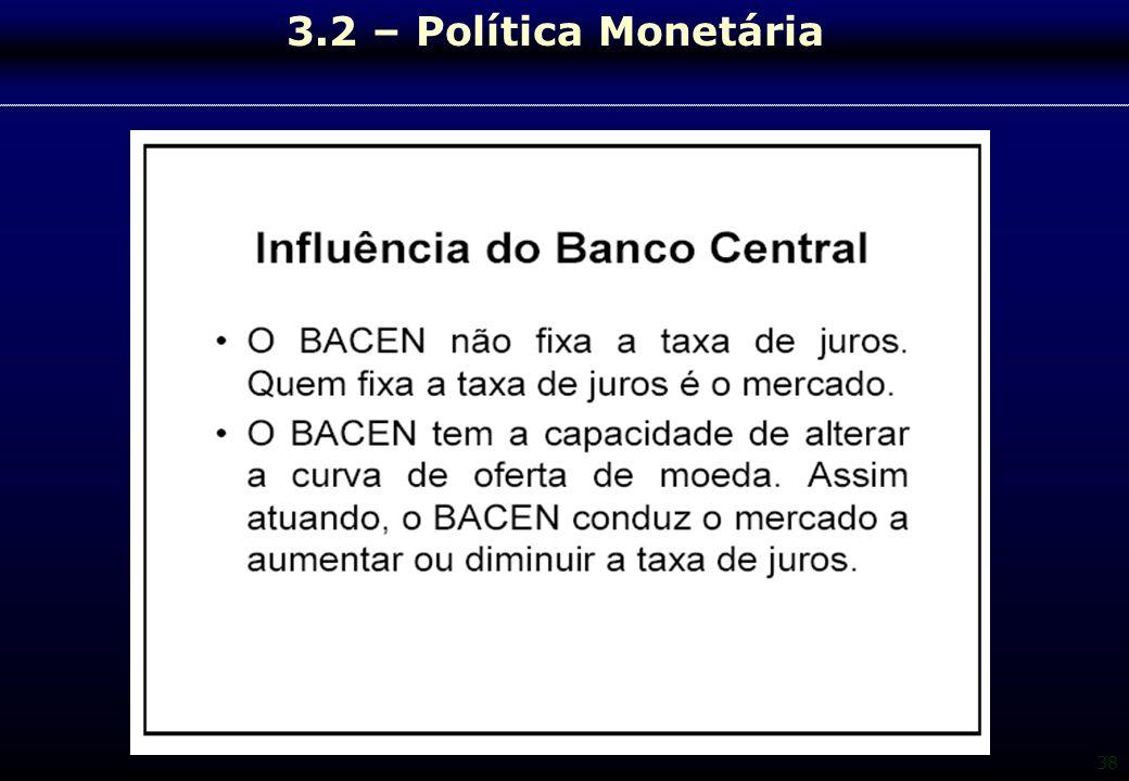 38 3.2 – Política Monetária