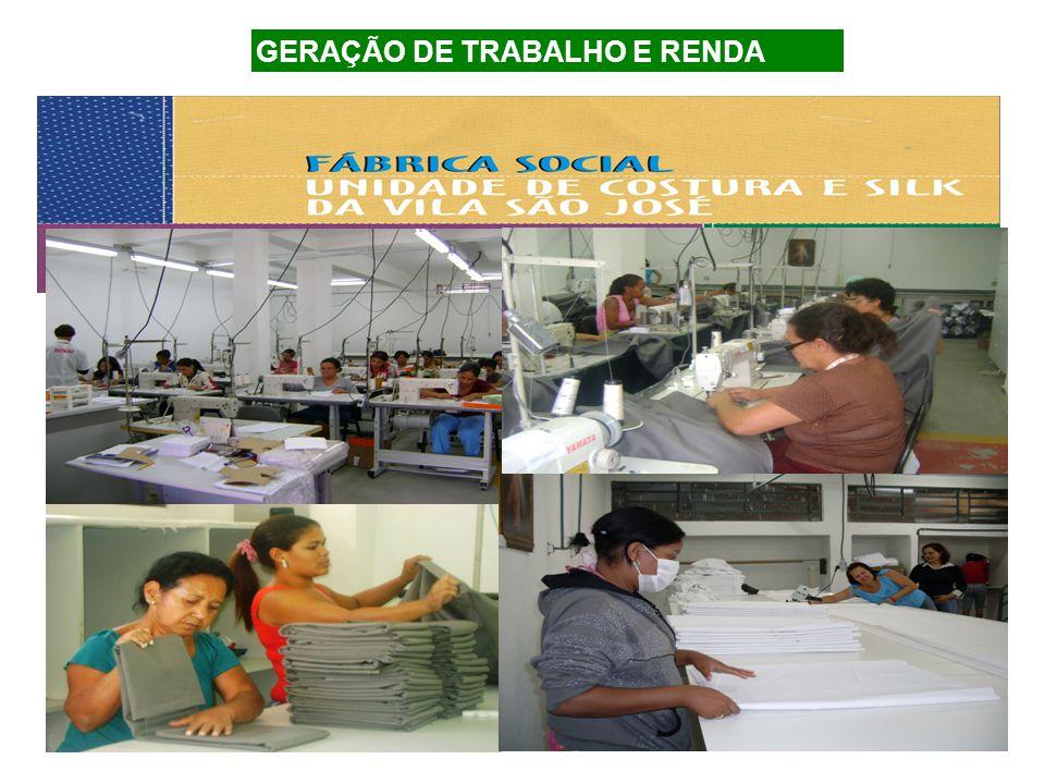 GERAÇÃO DE TRABALHO E RENDA