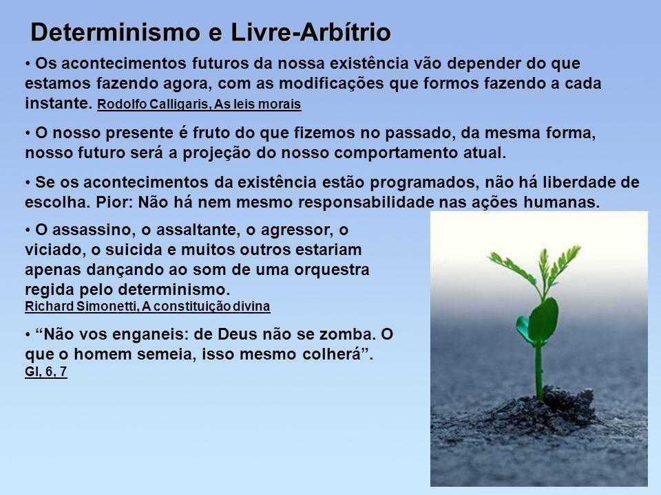 Determinismo e Livre-Arbítrio Os acontecimentos futuros da nossa existência vão depender do que estamos fazendo agora, com as modificações que formos