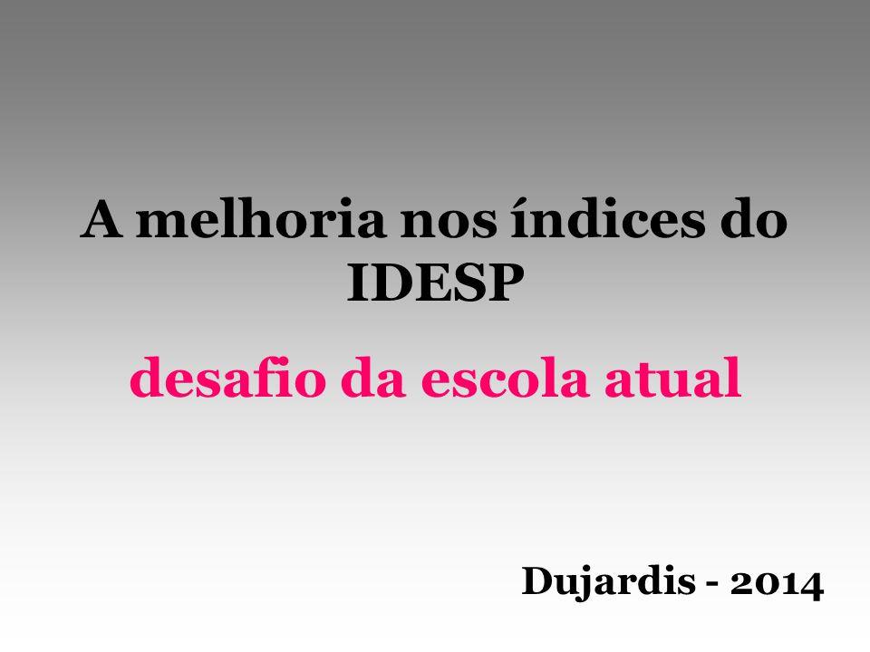 A melhoria nos índices do IDESP desafio da escola atual Dujardis - 2014