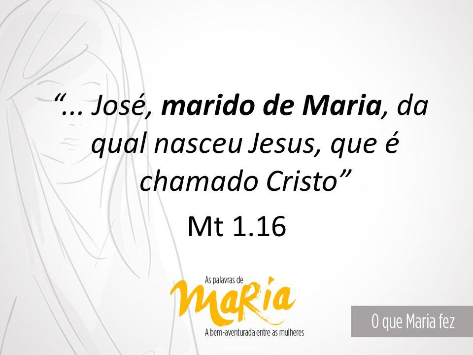 """""""... José, marido de Maria, da qual nasceu Jesus, que é chamado Cristo"""" Mt 1.16"""