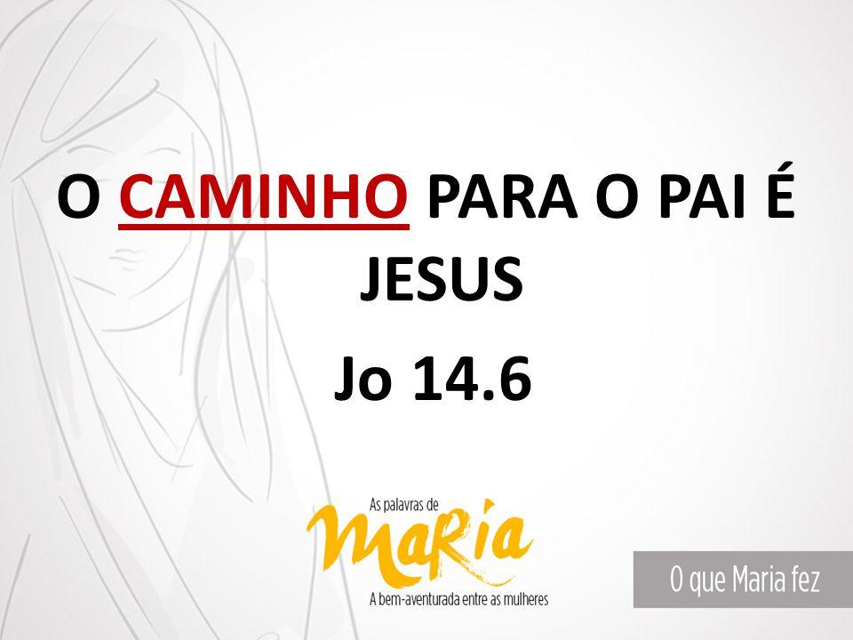 O CAMINHO PARA O PAI É JESUS Jo 14.6