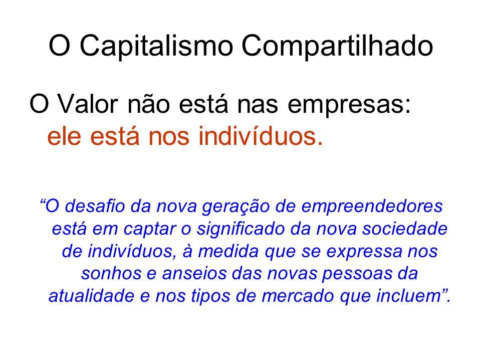 O Capitalismo Compartilhado O Valor não está nas empresas: ele está nos indivíduos.