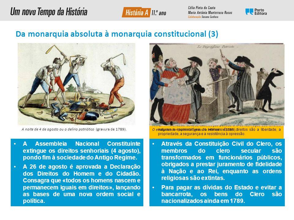A Tomada da Bastilha (14 de julho de 1789).