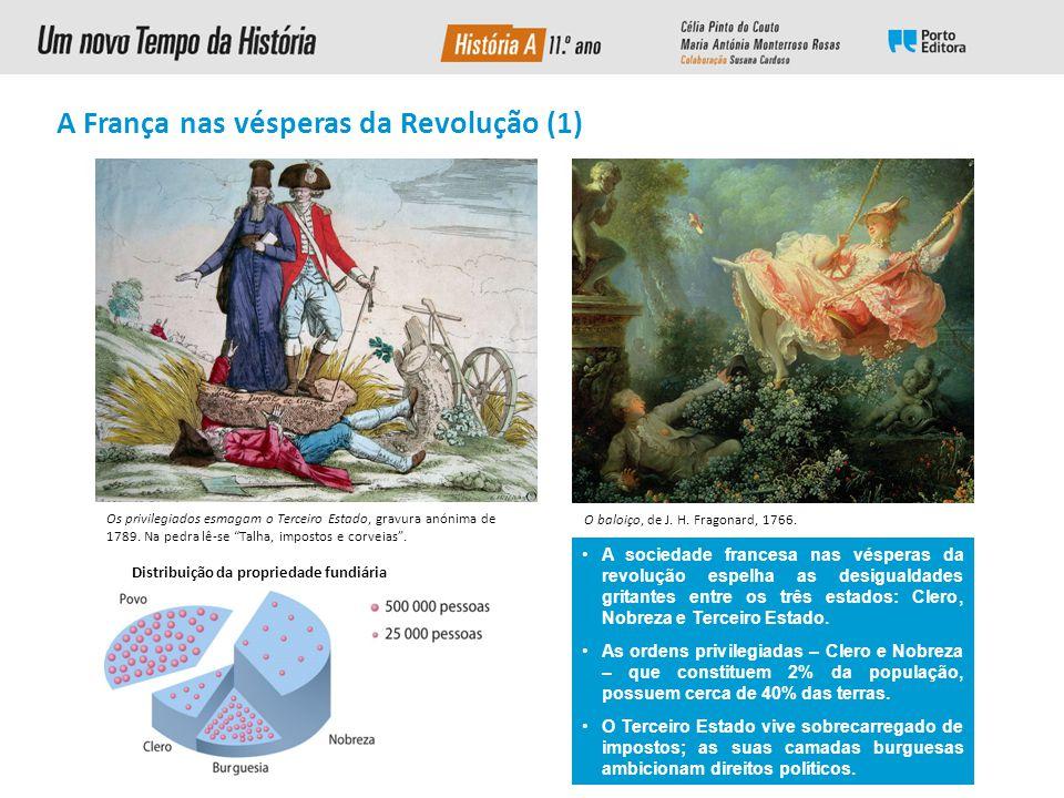 A Revolução Francesa Luís XVI em trajo da sagração Tomada da Bastilha Napoleão I Declaração Universal dos Direitos do Homem e do Cidadão Divisa republicana Retrato da rainha Maria Antonieta com uma rosa