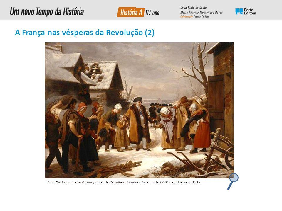 Luís XVI distribui esmola aos pobres de Versalhes durante o Inverno de 1788, de L.