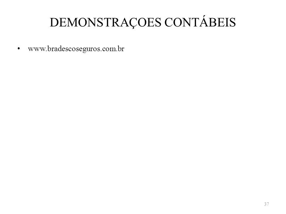 DEMONSTRAÇOES CONTÁBEIS www.bradescoseguros.com.br 37