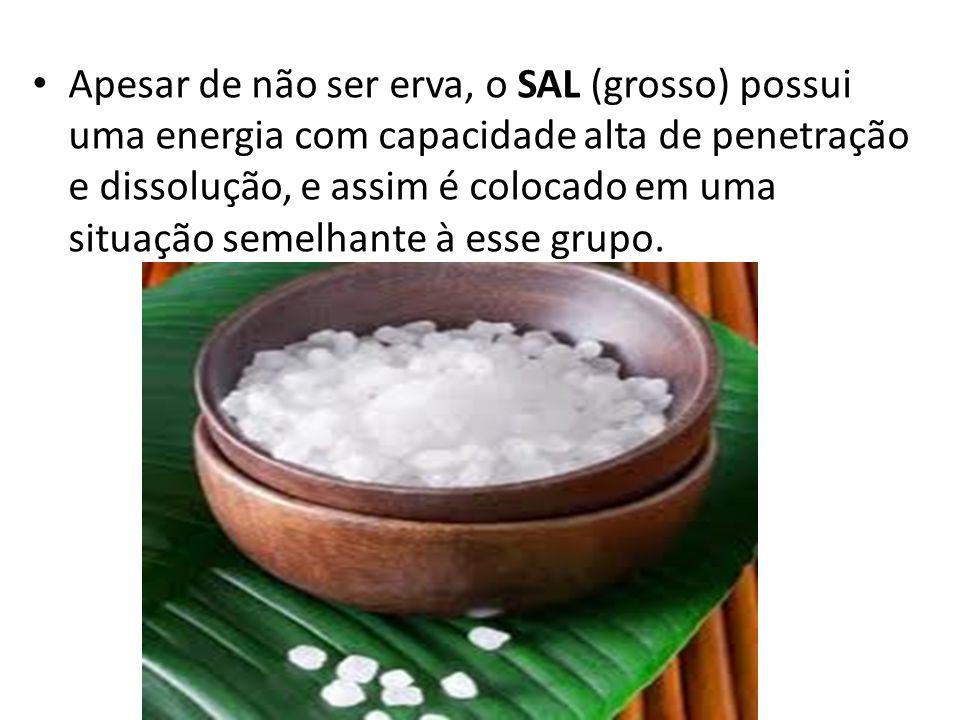 Apesar de não ser erva, o SAL (grosso) possui uma energia com capacidade alta de penetração e dissolução, e assim é colocado em uma situação semelhant