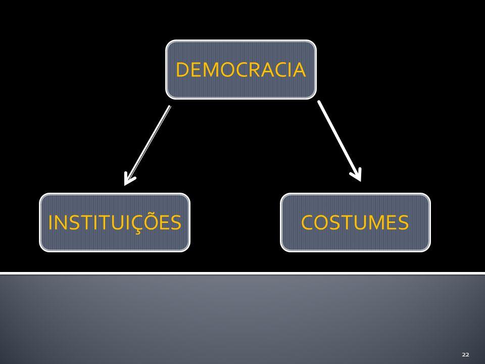 DEMOCRACIA INSTITUIÇÕES COSTUMES 22