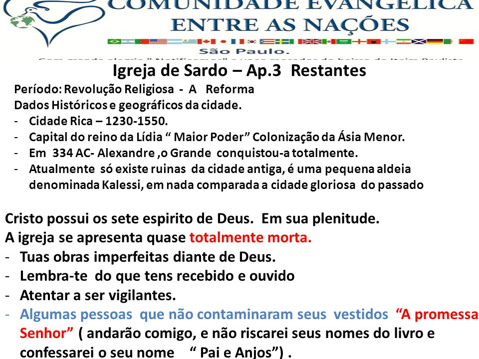 Igreja de Sardo – Ap.3 Restantes Período: Revolução Religiosa - A Reforma Dados Históricos e geográficos da cidade.