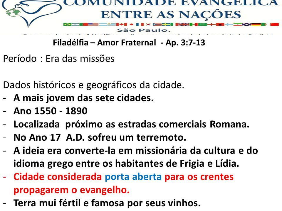 Filadélfia – Amor Fraternal - Ap.